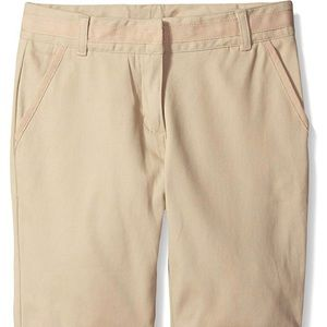 Nautica Girls' School Uniform Skinny Twill Short